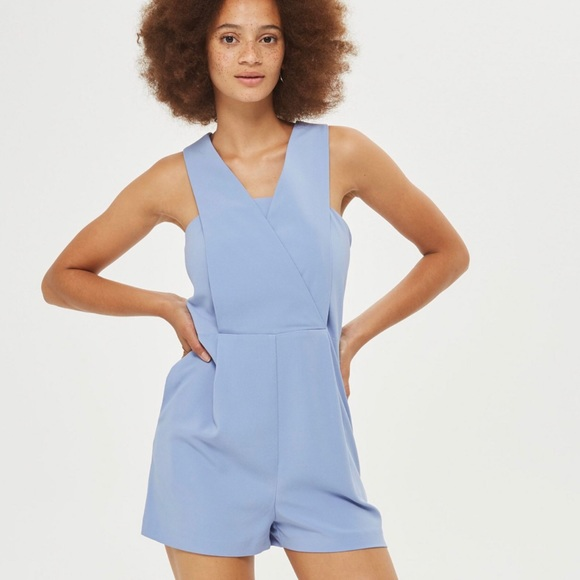 8174337cf5 Topshop Structured Pinafore Playsuit